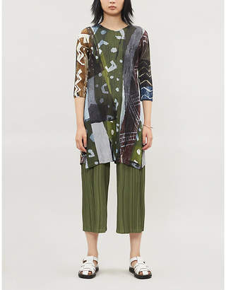 Pleats Please Issey Miyake Swinging Spices pleated woven top