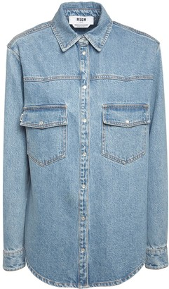 MSGM Cotton Denim Shirt
