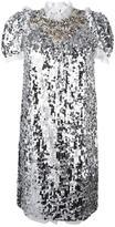 Dolce & Gabbana sequinned embellished dress - women - Polyester/Cotton/Polyamide/Spandex/Elastane - 42
