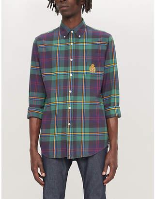 Polo Ralph Lauren Checked custom-fit cotton-flannel shirt