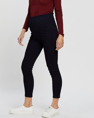Angel Maternity Women's Navy Slim - Maternity Deluxe High Waist Jeggings - Size One Size, XS at The Iconic