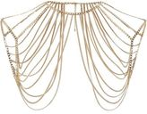 River Island Womens Gold tone chain draped shoulder harness