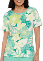 Alfred Dunner Acapulco Short-Sleeve Floral Top
