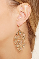 Forever 21 Leaf Filigree Drop Earrings