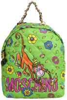 Moschino Monkey Print Quilted Backpack