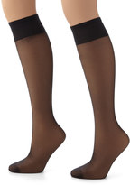 Hanes Plus 2-pk. Silk Reflections Silky Sheer Knee-High Pantyhose