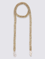 M&S Collection Blush Skinny Scarf Necklace