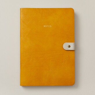 Indigo Paper Ultra Flexi Button Journal Cali Coast Mustard