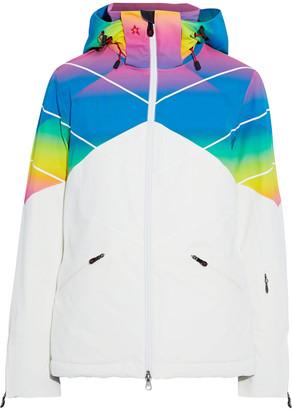 Perfect Moment Chamonix Degrade-paneled Hooded Padded Ski Jacket