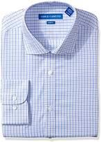 Vince Camuto Men's Slim Fit Sateen Check Dress Shirt