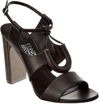 Salvatore Ferragamo Galilea Leather Sandal