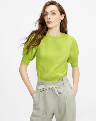 Ted Baker Puff Sleeve Knitted Top