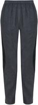 Kenzo Satin-stripe cotton-twill trousers
