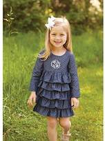 Mud Pie CHAMBRAY RUFFLE DRESS
