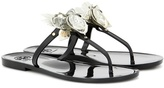 Tory Burch Blossom Jelly embellished sandals