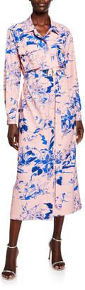Sies Marjan Watercolor Floral Shirtdress
