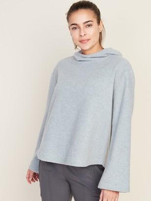 Old Navy Go-Warm Micro Performance Fleece Pleated-Back Swing Hoodie for Women
