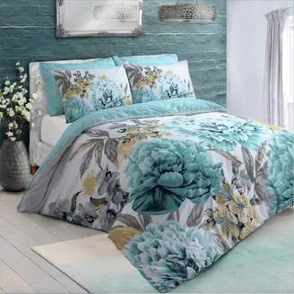 Argos Home Duck Egg Floral Bloom Bedding Set