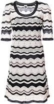 M Missoni scalloped pattern dress