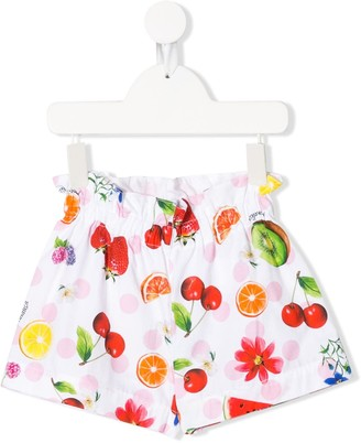 MonnaLisa Fruit Print Shorts