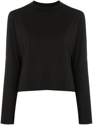 OSKLEN long-sleeved crop T-shirt