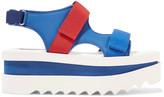 Stella McCartney Grosgrain-trimmed rubber platform sandals
