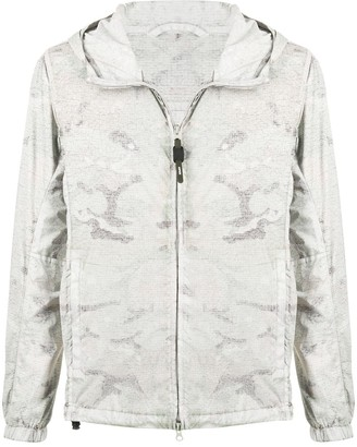 Aspesi Full Zip Camouflage Print Jacket