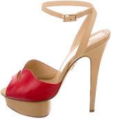 Charlotte Olympia Leather Platform Sandals