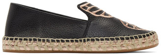 Sophia Webster Black Butterfly Espadrilles