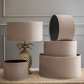 Graham and Green Argyll Taupe Drum Shade
