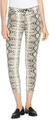 Hudson High-Waist Ankle Skinny Python-Print Jeans