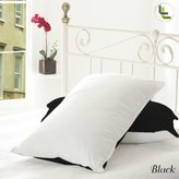 Living & Co 600TC 100% Egyptian Cotton 2PCs Reversible Pillowcase Pair Solid