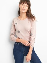 Gap Merino star crewneck sweater