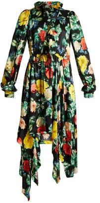 Preen by Thornton Bregazzi Arabella Floral-print Silk-satin Dress - Womens - Green Multi