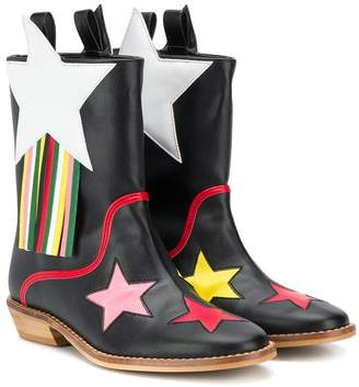 Stella McCartney star patch cowboy boots