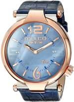 Mulco Women's MW5-3183-043 Couture Slim Analog Display Swiss Quartz Blue Watch