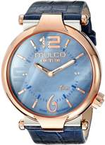 Mulco Women's MW5-3183-043 Couture Slim Analog Display Swiss Quartz Watch
