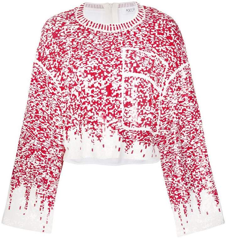 Aviu sequin embroidered jumper
