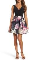 Xscape Evenings Women's Mixed Media Party Dress