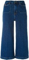 CK Calvin Klein cropped wide-leg jeans