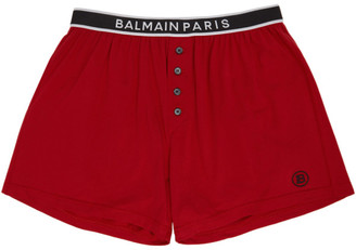 Balmain Red Cotton Boxers