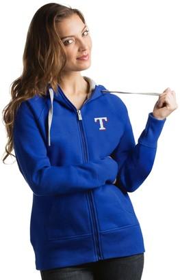 Antigua Women's Texas Rangers Victory Full-Zip Hoodie