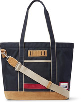 Master-piece - Suede-trimmed Nylon Tote Bag