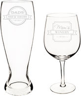 Cathy's Concepts CATHYS CONCEPTS Mom and Dad 2-pc. Xl Beer and Wine Glass Set