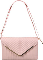 Yours Clothing Pastel Pink Textured Shoulder Bag With Detachable Straps