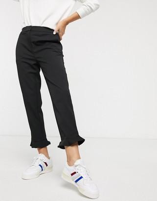 Just Female Gerda frill hem trousers