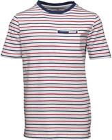 Ben Sherman Junior Boys Multi Stripe Jersey T-Shirt Bright White