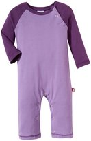 City Threads Rib Contrast Romper (Baby) - Medium Purple/Purple-3-6 Months