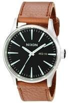 Nixon Men's A1051037 Sentry Stainless Steel Watch with Tan Leather Band