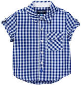 Andy & Evan Short Sleeve Gingham Shirt (Toddler & Little Boys)
